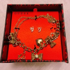 Guess Charm Bracelet with Earrings